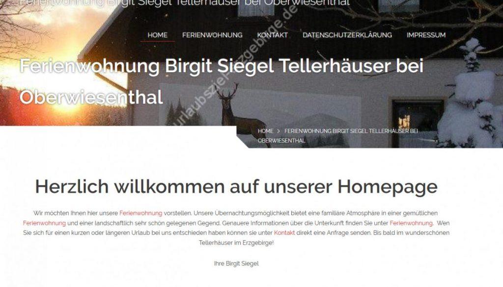 Ferienwohnung Birgit Siegel Tellerhäuser bei Oberwiesenthal _ Birgit Siegel