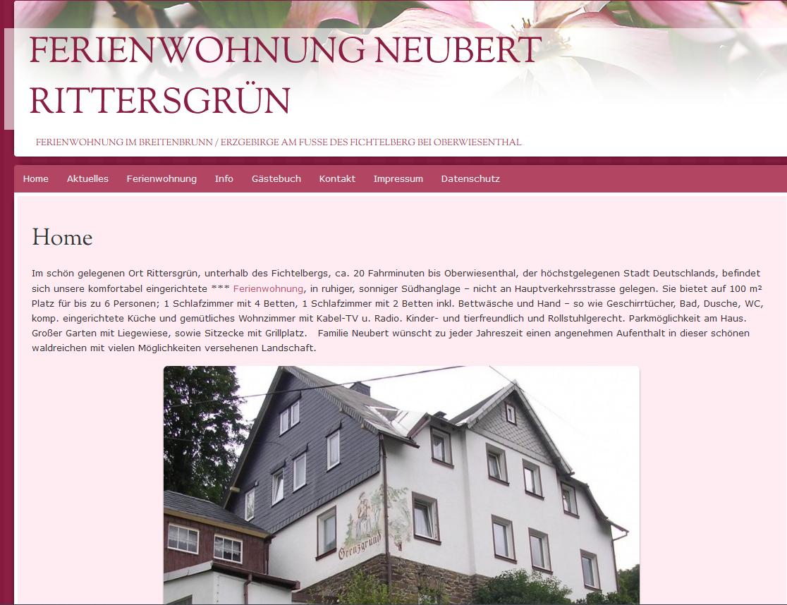 Ferienwohnung Neubert Rittersgrün - Urlaub und Ferien im oberen Erzgebirg