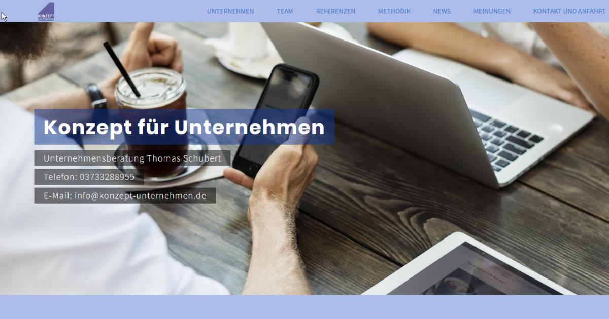 Konzept für Unternehmen _ Unternehmensberatung Thomas Schubert